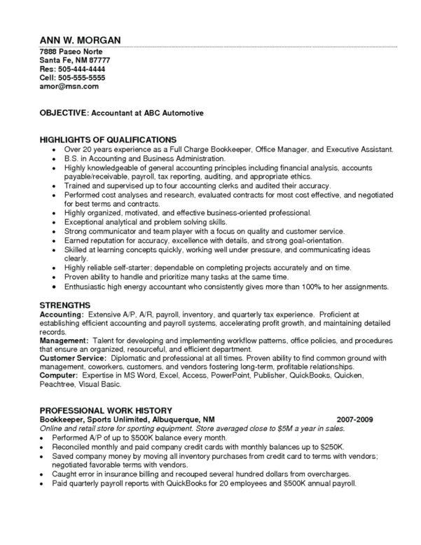 Bookkeeping Resume Samples Entry Level Accounting Sample To Bookkeeping Resume Templates