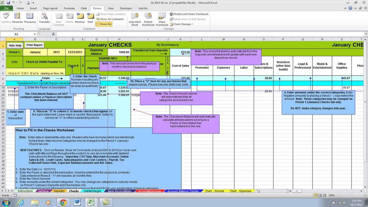 Bookkeeping Spreadsheet Using Microsoft Excel | Homebiz4U2Profit inside Bookkeeping Excel Spreadsheets