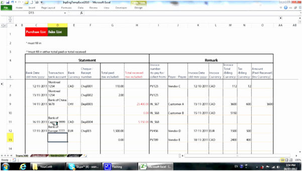 Bookkeeping Spreadsheet Using Microsoft Excel Unique Bookkeeping With Microsoft Excel Bookkeeping Spreadsheet