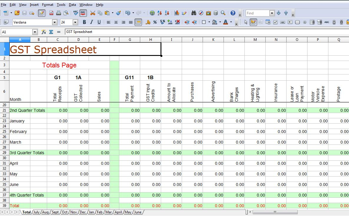 Bookkeeping Templates Excel Free | Homebiz4U2Profit In Bookkeeping Spreadsheet Template