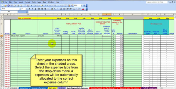 Bookkeeping Templates Excel Free | Homebiz4U2Profit To Bookkeeping On Excel