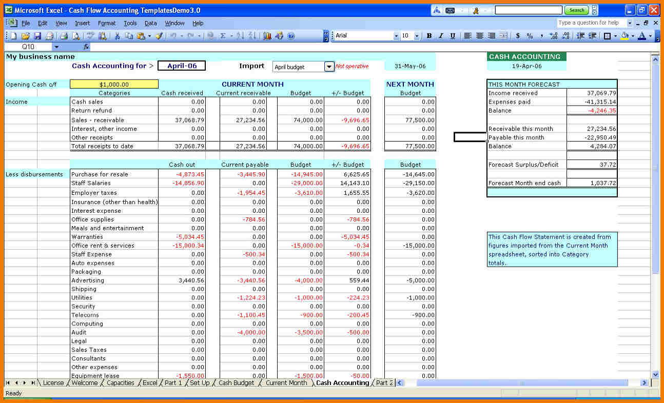 Bookkeeping Templates For Self Employed   Homebiz4U2Profit In Bookkeeping Spreadsheets For Excel