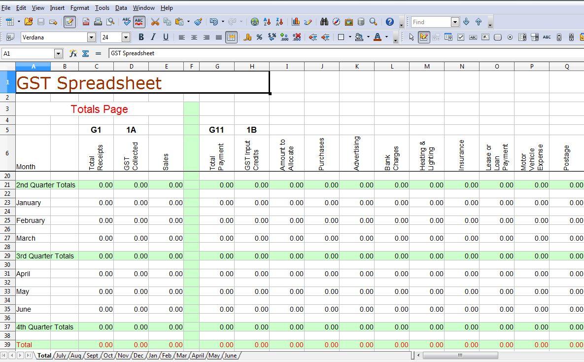 Bookkeeping Templates For Self Employed | Homebiz4U2Profit To Bookkeeping Spreadsheet Templates