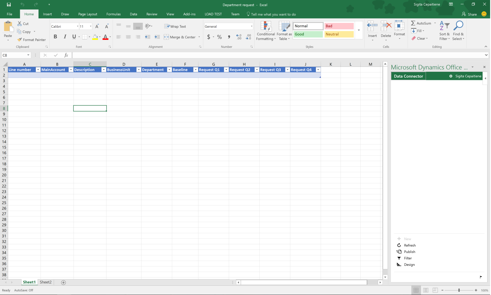Budget Planning Templates For Excel   Finance & Operations Within Data Spreadsheet Template