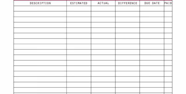 Budget Spreadsheet Template – Spreadsheet Collections And Budget Spreadsheet