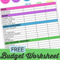 Budget Worksheet A Free Monthly Budgeting Planner Mom S Take Family Within Financial Budget Template Free