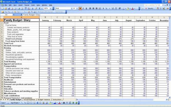 Budget Worksheet Excel Template Bud Spreadsheet Bud Spreadsheet Throughout Free Budget Spreadsheet Templates