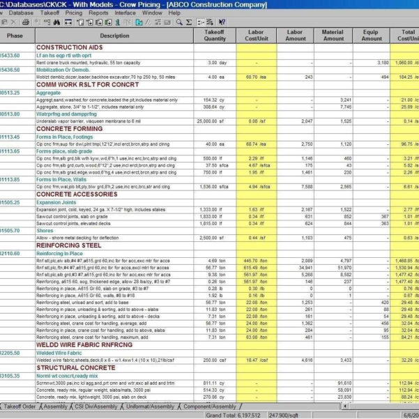 Buildingruction Estimate Spreadsheet Excel Download Cehaer And Construction Estimating Spreadsheets Freeware