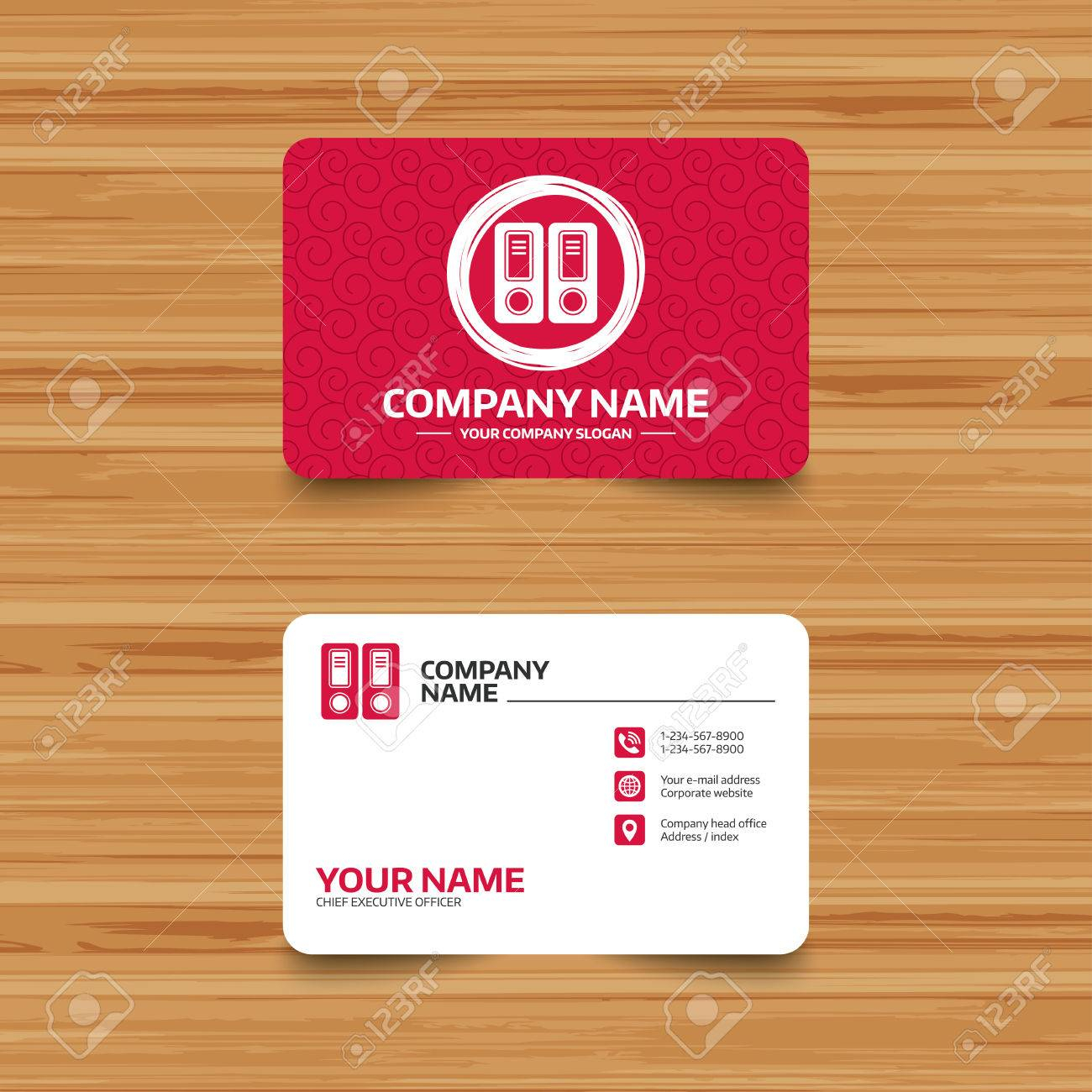 Business Card Template With Texture. Document Folder Sign Within Bookkeeping Business Cards Templates Free