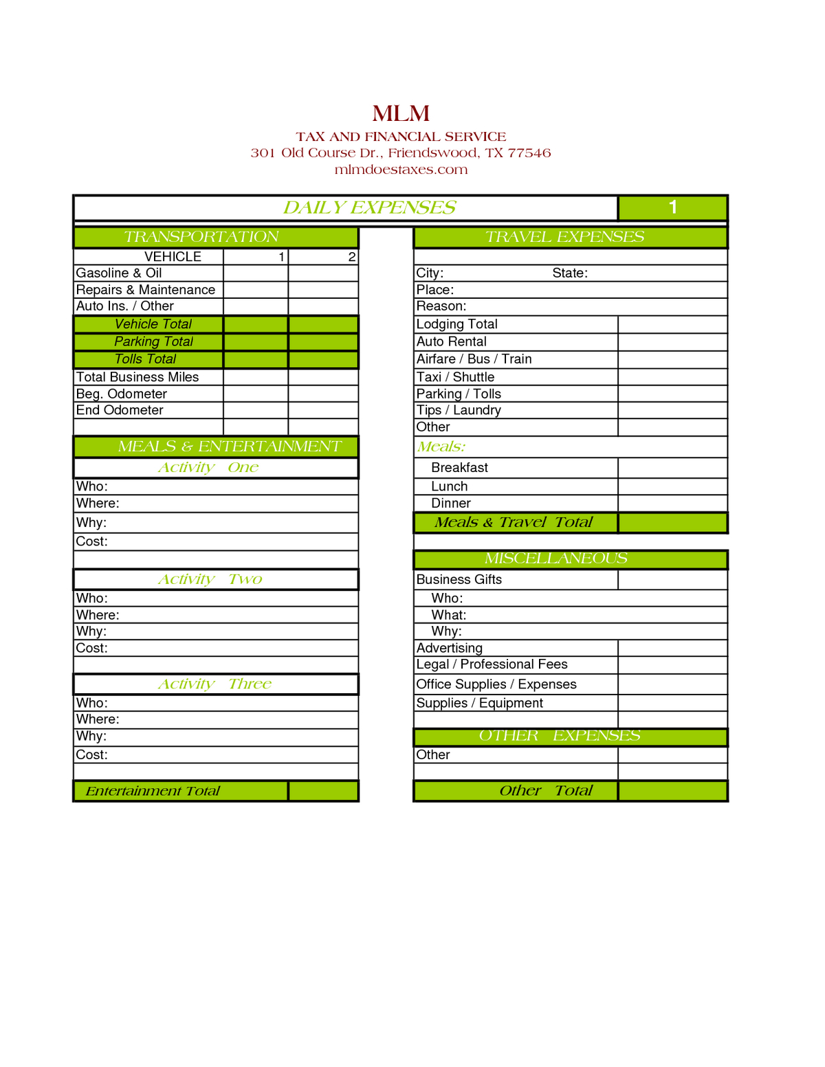 Business Expense Tracking Spreadsheet With Sample Daily Expense In Sample Expense Spreadsheet