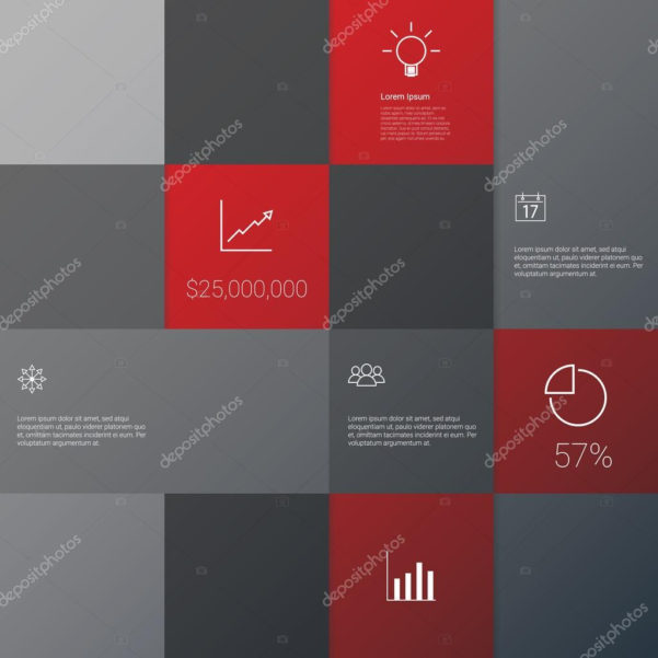 Business Infographics Template With Set Of Icons On Project Within Project Management Presentation Templates