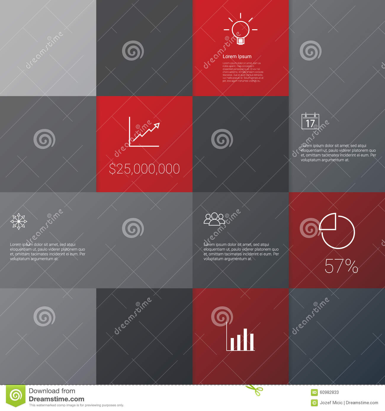 Business Infographics Template With Set Of Icons Stock Vector With Project Management Presentation Templates