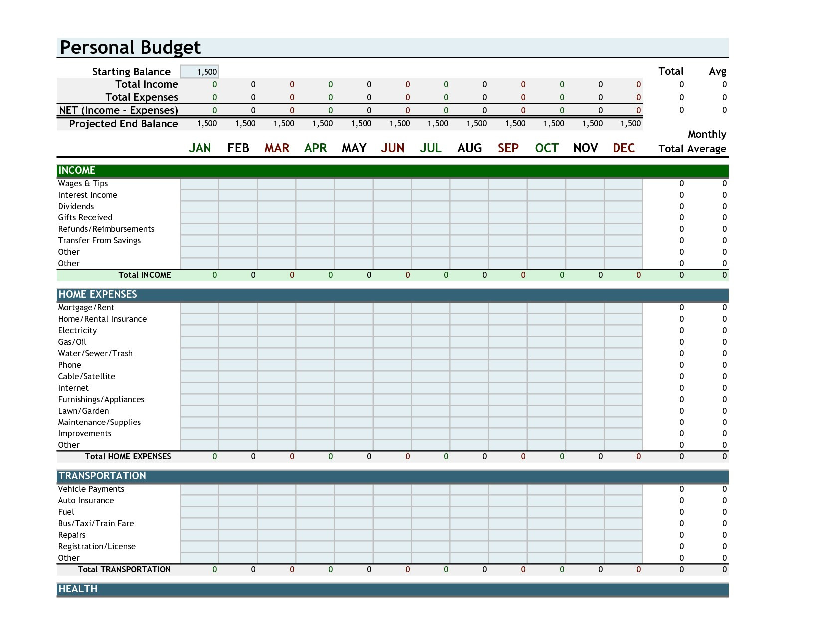 Business Monthly Budget Template Free Downloads Excel Bud Template Throughout Monthly Budget Planner Excel Free