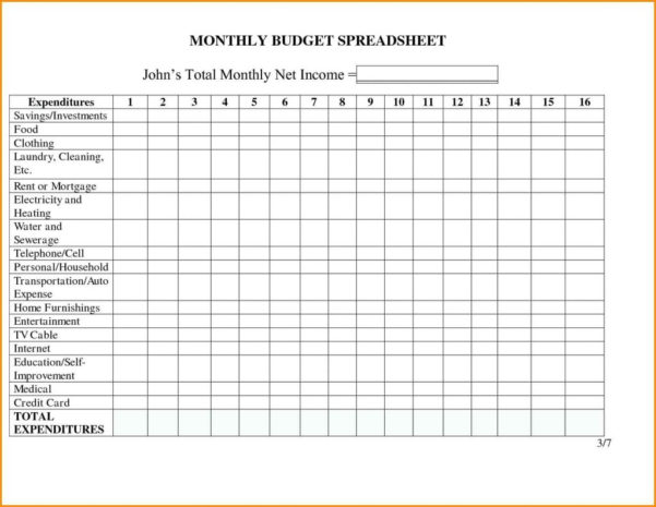 Business Monthly Expenses Spreadsheet On Excel Spreadsheet Templates Inside Monthly Expense Sheet Template