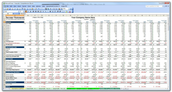 Business Plan Financial Projections Template Excel   Resourcesaver And Sales Projection Template Excel