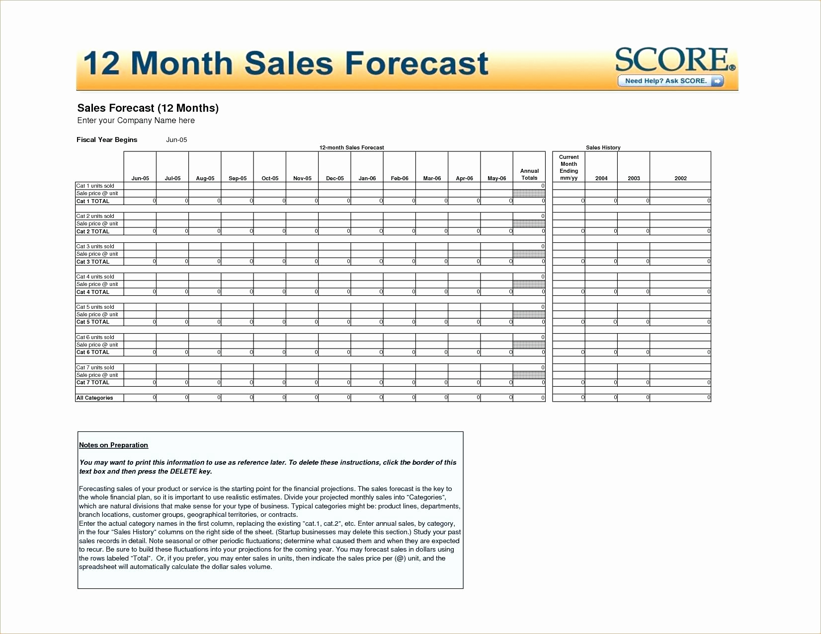 Business Plan Projections Template Awesome 12 Month Profit And Loss Throughout 12 Month Sales Forecast Template