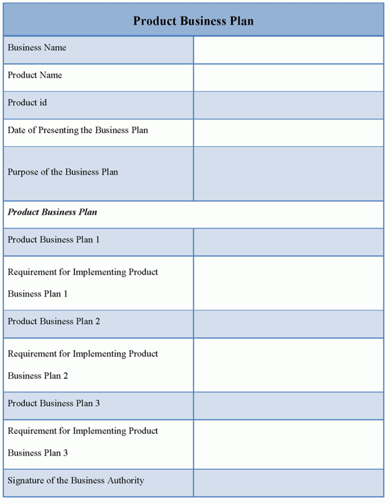 Business Plan Template With Business Plan Spreadsheet Template