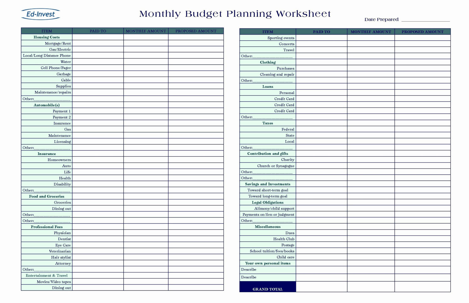 Business Proposal Sample Budget Spreadsheet Gallery Of For Small And Spreadsheet Template Budget
