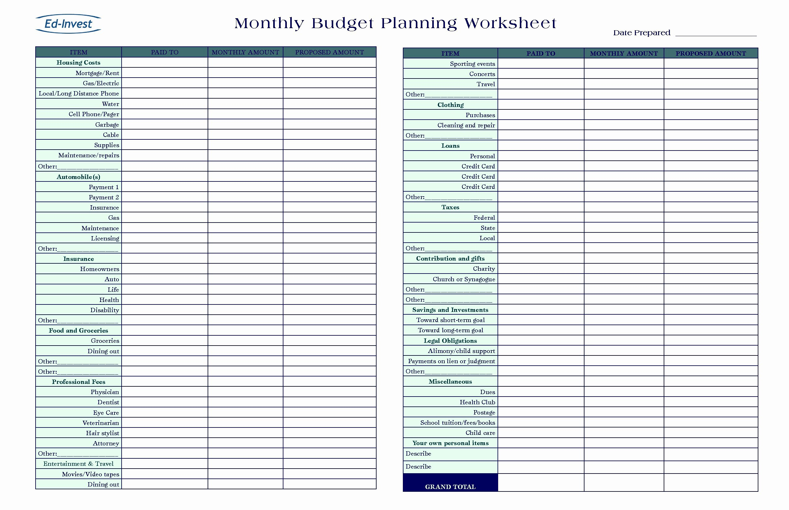Business Proposal Sample Budget Spreadsheet Gallery Of For Small With Sample Budget Spreadsheet