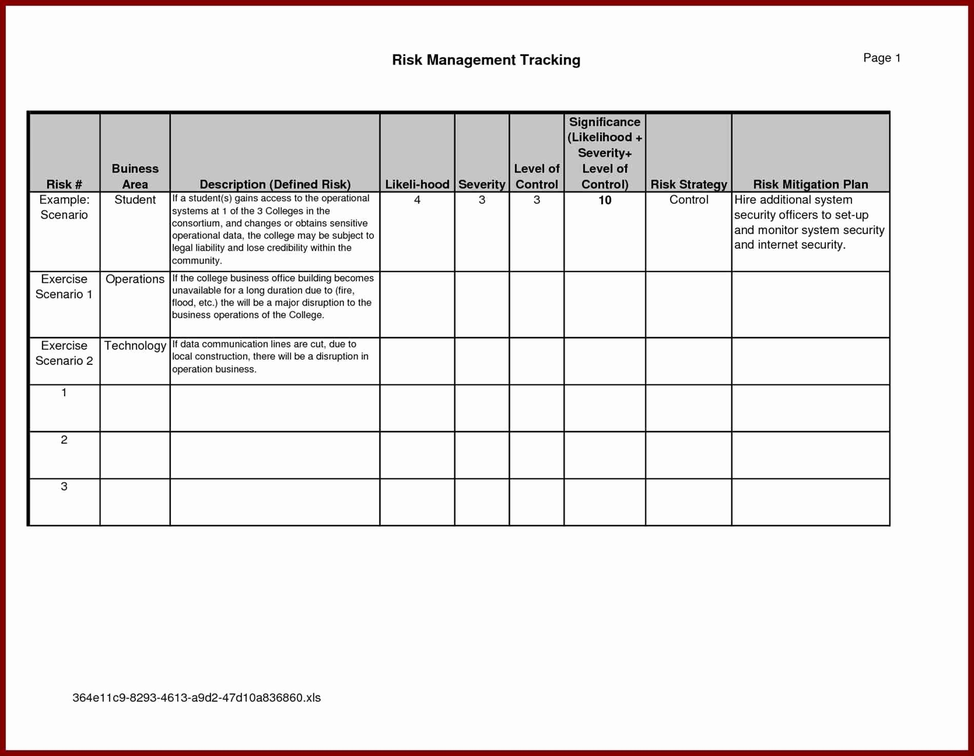 Business Risk Management Plan Template New Project Management With Project Management Plan Templates