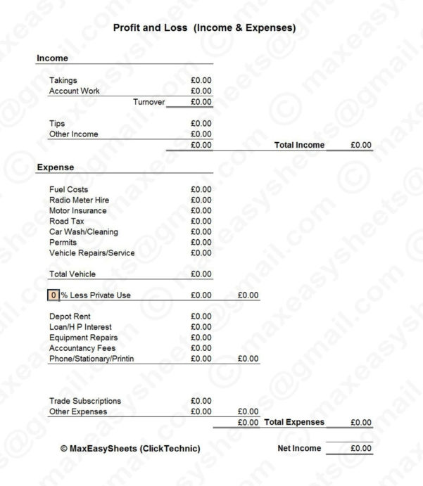 Cab Taxi Driver Log Book Bookkeeping Spreadsheet Record Accounting Inside Taxi Bookkeeping Template