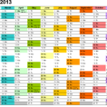 Calendar 2013 Uk   12 Printable Pdf Templates (Free) To Monthly Staff Schedule Template Excel
