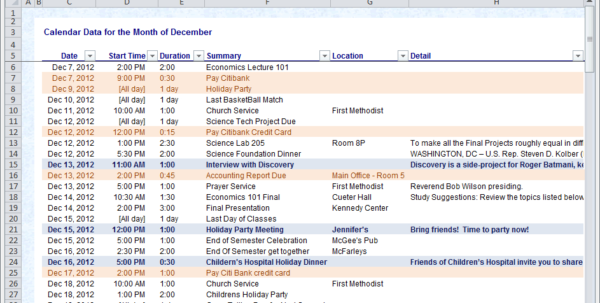 Calendar Maker & Calendar Creator For Word And Excel And Excel Spreadsheet Template Scheduling