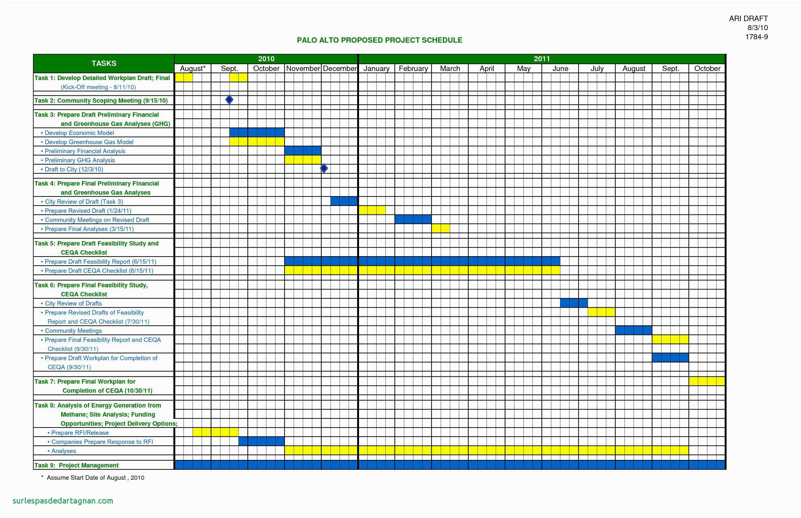 Calendar Templates Excel Construction Schedule Template Excel Free Intended For Project Management Templates For Excel Free Download