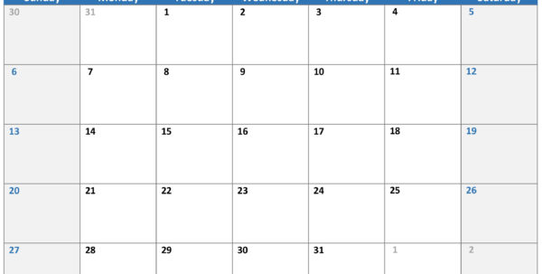 Calendars   Office And Calendar Spreadsheet