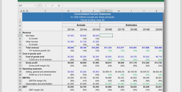 Cash Flow Berechnung Excel Vorlage Cool Download A Dcf Model In Excel Cash Flow Template