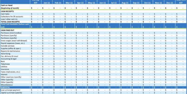 Cash Flow Excel Vorlage Best Of Excel Cash Flow Template Cash Flow In Excel Cash Flow Template