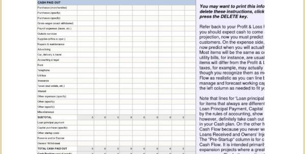 Cash Receipt Template Excel Fresh Excel Cash Flow Template – My And Excel Cash Flow Template