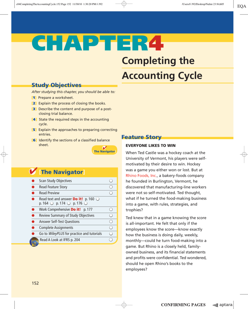 Chapter 4 Completing The Accounting Cycle In Accounting Practice Worksheet