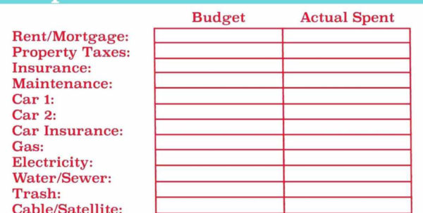 Church Budget Worksheet | Www.topsimages In Sample Church Budget Spreadsheet