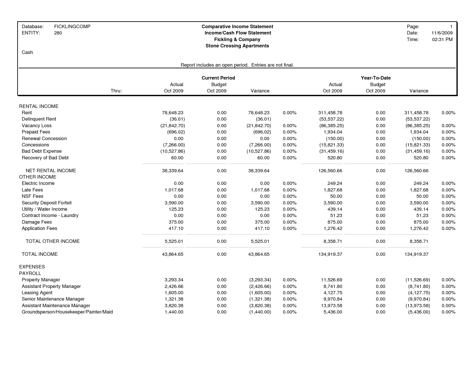 Comparative Income Statement Template - Best Template Collection To Income Statement Generator