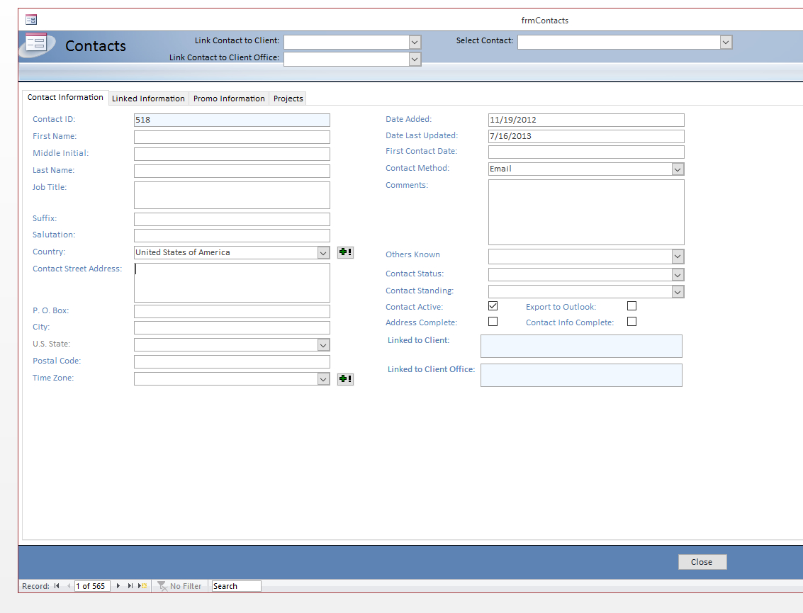 Constructing Custom Crms With Microsoft Vba   Excel Consultant Within Crm Excel Sheet Download
