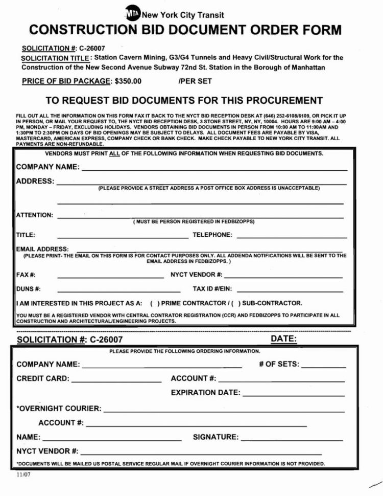 Construction Bid Form Aia Standard Csi Forms Proposal Pdf Intended For Construction Estimate Form
