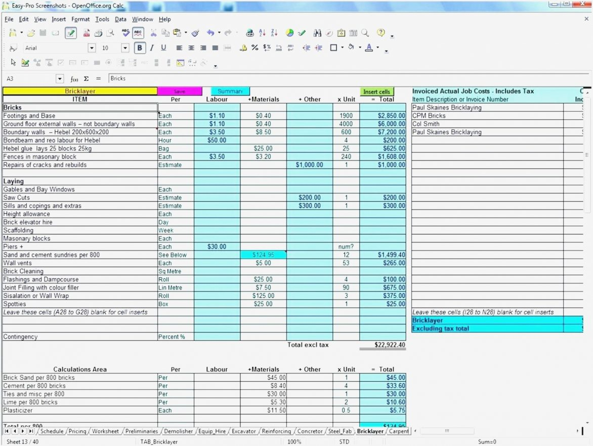 Construction Bid Templates Excel Inspirational Template Estimate 9 To Construction Bid Form Excel