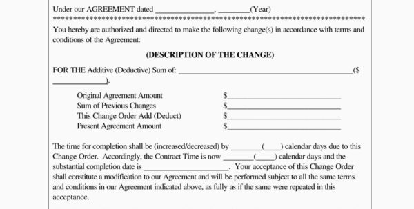 Construction Change Order Form Template Estimate Forms Templates And With Construction Estimating Forms Template