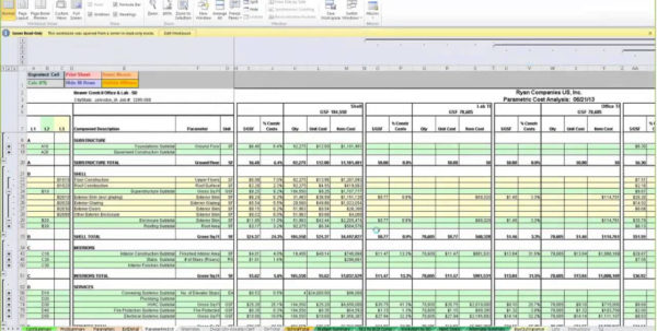 Construction Cost Template Excel   Zoro.9Terrains.co Inside Construction Estimate Form Excel