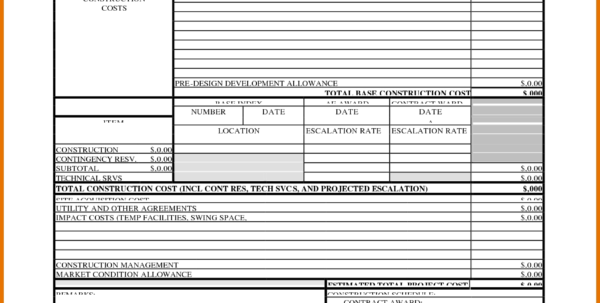 Construction Estimate Formula Download Construction Estimate Form Within Construction Estimate Template For Mac
