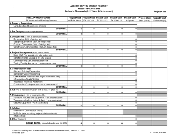 Construction Estimate Template Excel Free Construction Scheduletes For Construction Project Cost Estimate Template Excel