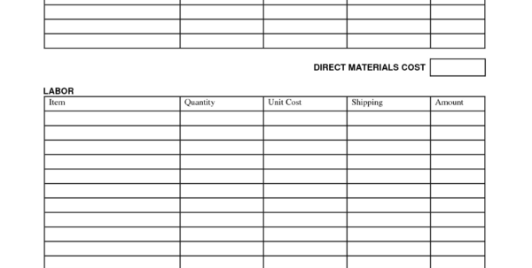 Construction Estimate Template Excel | Spreadsheet Collections To Construction Estimate Template Excel