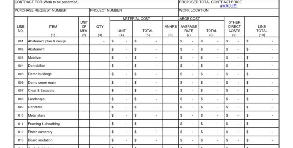 Construction Estimate Template Free Download   Southbay Robot To Construction Estimate Template Free Download