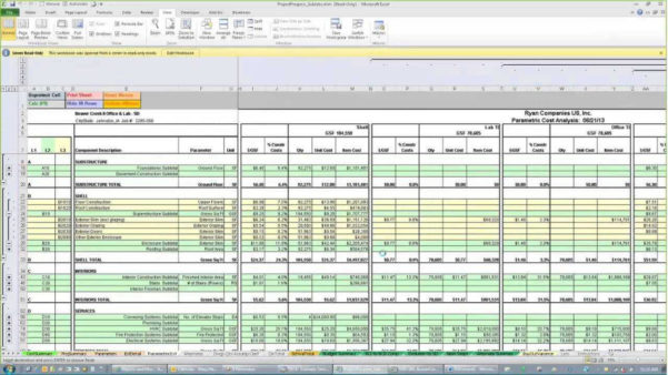 Construction Estimating Excel Spreadsheet   Sosfuer Spreadsheet To Residential Construction Estimate Spreadsheet