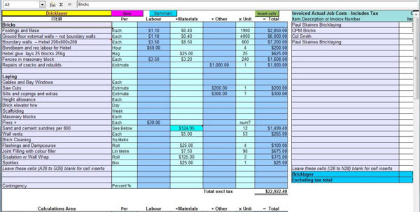 Construction Estimating Spreadsheet Template | Sosfuer Spreadsheet With Construction Estimating Spreadsheet Template