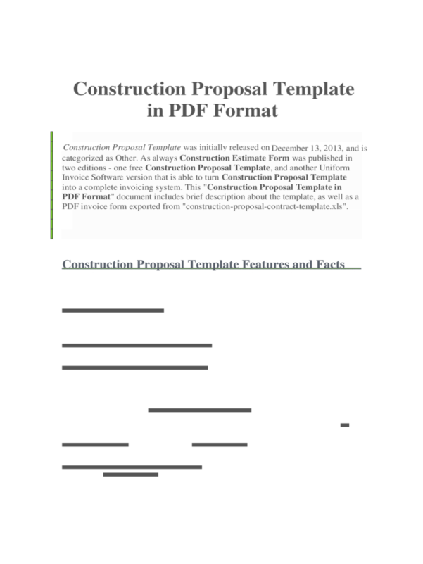 Construction Forms   41 Free Templates In Pdf, Word, Excel Download Within Free Construction Estimate Template Word