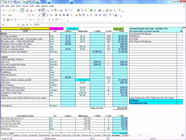 Construction Job Costingreadsheet Free Luxury Cost Tracking Tracker With Costing Spreadsheet Template