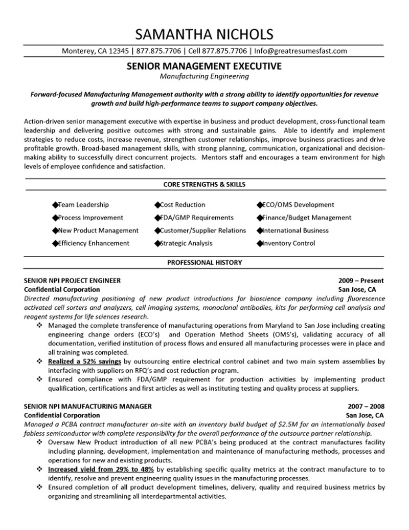 Construction Project Manager Resume Examples Construction Project With Project Management Resume Templates
