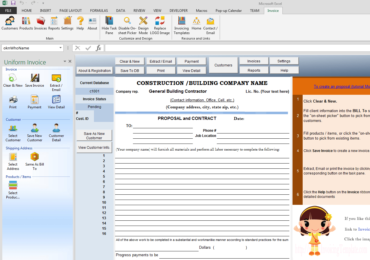 Construction Proposal Template And Construction Estimate Forms Free